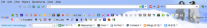 Internet Genealogy toolbar