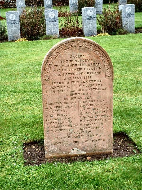 Memorial Stone of Charles Easter, HMS Barham